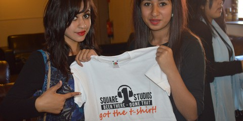 00 studio, 2 applicants, square1 tshirt